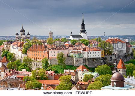 Tallinn. Toompea hill - Stock Photo