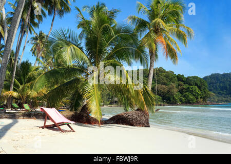 Beach on the Koh Kood island, Thailand - Stock Photo
