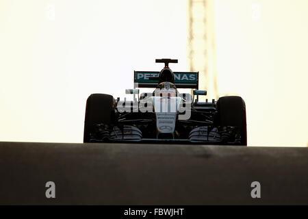 Lewis Hamilton, Mercedes AMG Petronas F1 Team - Formula 1 World Championship 2015 -Abu Dhabi Gp Prix - Yas Marina - Stock Photo