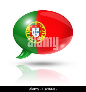 Portuguese flag speech bubble - Stock Photo