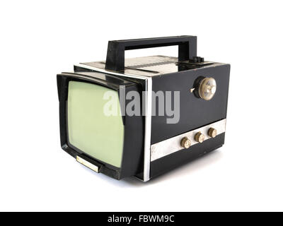 the old TV on a white background - Stock Photo