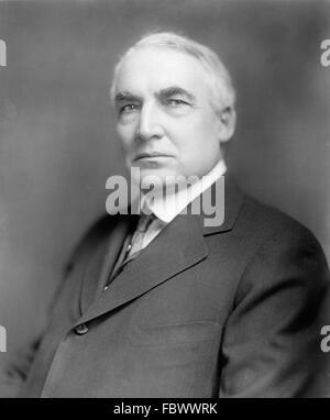 Warren Harding. Portrait of Warren G Harding, the 29th President of the USA, c,1920 - Stock Photo