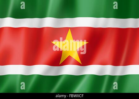 Suriname flag - Stock Photo