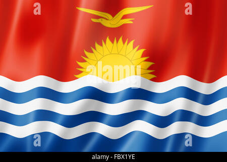 Kiribati flag - Stock Photo