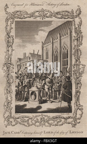 JACK CADE REBELLION. Cade declaring himself Lord of the City of London, 1775 - Stock Photo
