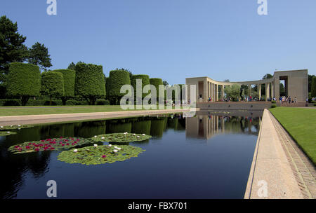 American War Cemetery in Colleville-sur-Mer - Stock Photo