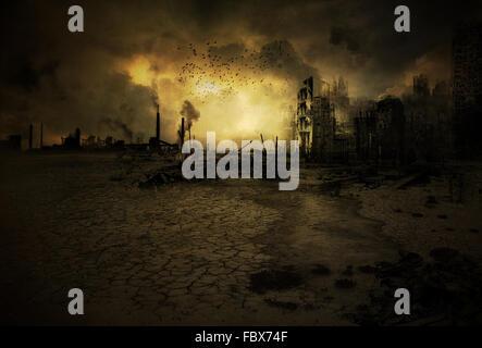 Background apocalyptic scenario V2 - Stock Photo