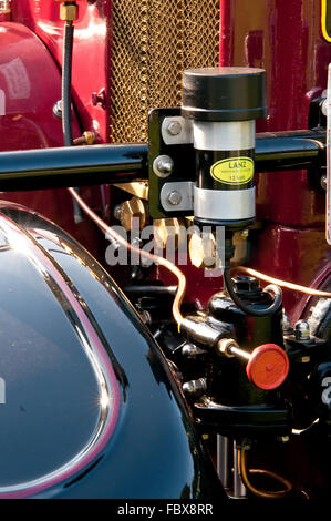 Vintage agricultural machinery exhibition - Stock Photo