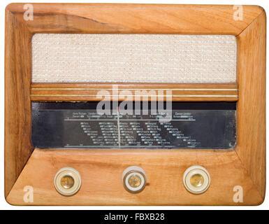 Vintage radio Cutout - Stock Photo