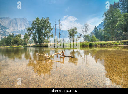 Yosemite river view - Stock Photo