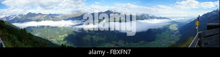 Clouds over the Stubai Valley in Tyrol - Stock Photo
