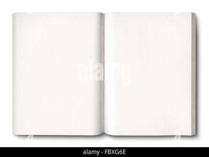 White open book isolated on white - Stock Photo