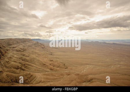 Grand Canyon from heli - Stock Photo