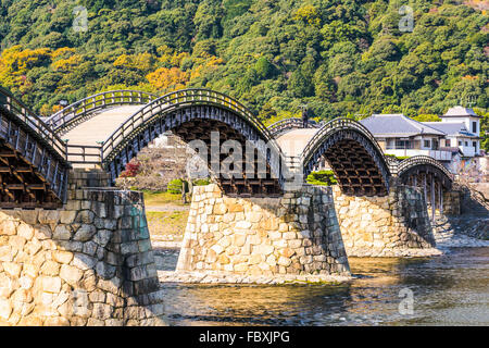 Kintai Bridge of Iwakuni, Japan. - Stock Photo