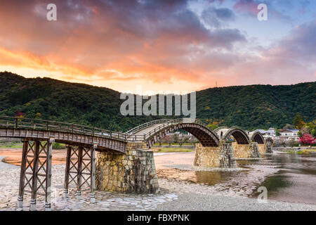 Kintaikyo Bridge of Iwakuni, Japan - Stock Photo