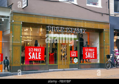 Sale in the River Island fashion store - Stock Photo