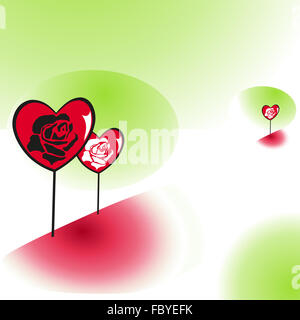 Heart with rose petals - Stock Photo