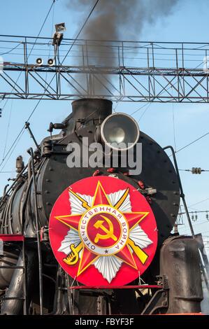 Details retro steam locomotive - Stock Photo
