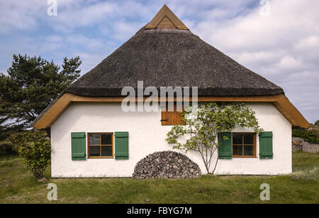 Hiddensee - house in Neuendorf - Stock Photo