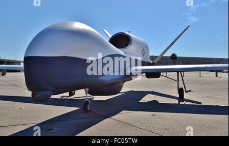 U.S. Navy MQ-4C Triton Unmanned Drone - Stock Photo