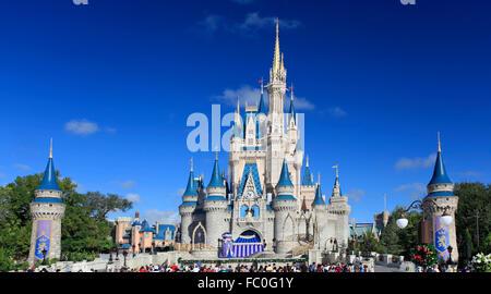 Cinderella Castle, Magic Kingdom, Disney - Stock Photo
