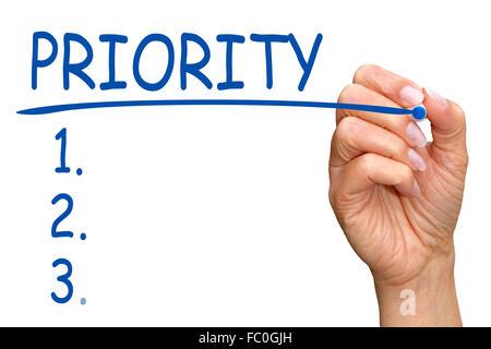 Priority Checklist - Stock Photo