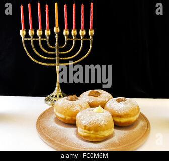 jewish holiday Hanukkah - Stock Photo