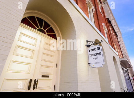 Entrance to Ford's Theatre in Washington DC, USA. - Stock Photo