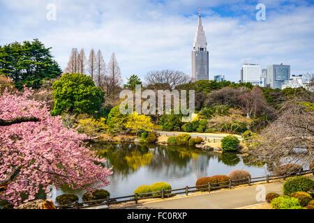 Tokyo, Japan at the Shinjuku District during spring season. - Stock Photo