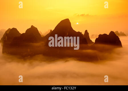 Guilin, China Karst mountains. - Stock Photo