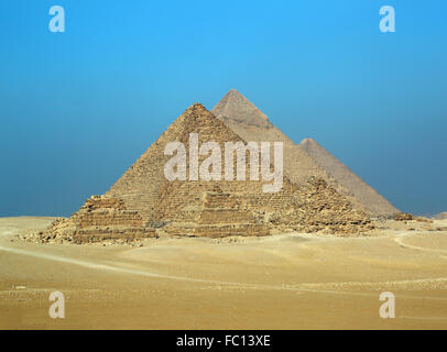 Great pyramids in Egypt - Stock Photo