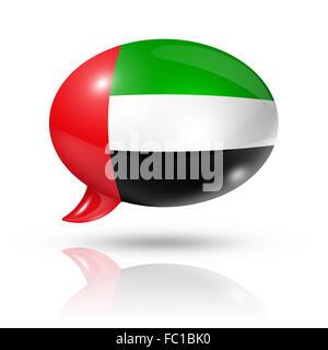 United Arab Emirates flag speech bubble - Stock Photo