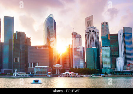 Singapore Downtown Core skyline - Stock Photo