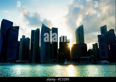 Singapore silhouette - Stock Photo