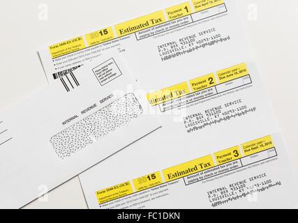 Us Irs Tax Form 1040 Es Stock Photo 93460412 Alamy
