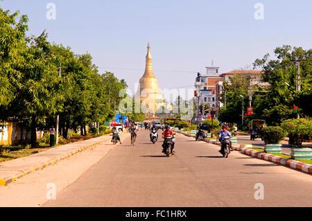 Shwemawdaw Paya, Bago, Myanmar - Stock Photo