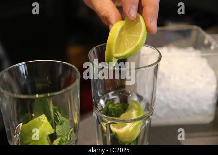 Bar. Cocktail. Mojitos. - Stock Photo