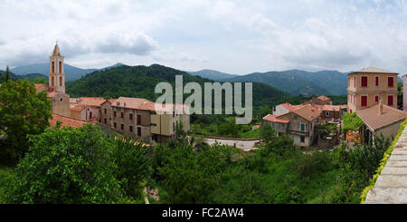 Mountain village Evisa - Corsica - Stock Photo