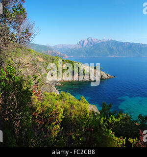 Gulf of Porto and Capu d'Ortu - Corsica - Stock Photo