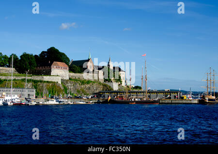 View on Akershus Fortress - Stock Photo