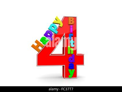Die Zahl 9 mit Happy Birthday darauf Stock Photo Royalty Free