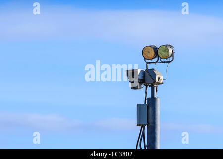 Closed-circuit television (CCTV) surveillance camera - Stock Photo