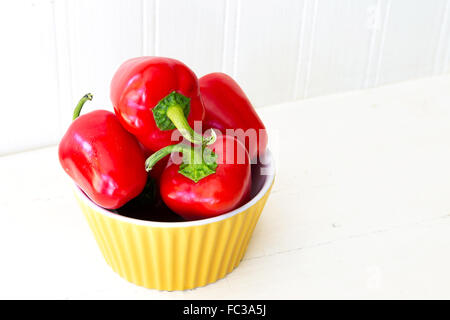 A variety of small red peppers from the home garden. - Stock Photo