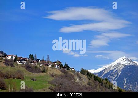 Brienz / Brinzauls in Switzerland - Stock Photo