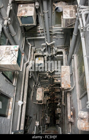 ventilation shaft in building - Stock Photo