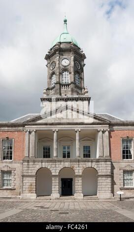 Dublin, Ireland - Aug 11, 2014: The Bedford Tower at the Dublin Castle in Dublin, Ireland on August 11, 2014. - Stock Photo