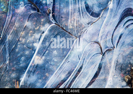 Patterns in ice - Stock Photo
