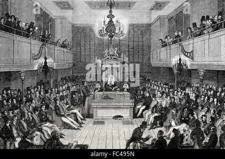 The House of Commons, 1834, London, England - Stock Photo