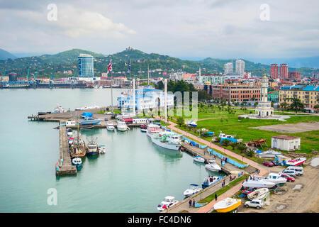 Sea port of Batumi, Georgia - Stock Photo