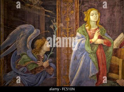 ROME, ITALY - january 10, 2016: A detail of the fresco of Filipinno Lippi  in the churc of Santa Maria sopra Minerva - Stock Photo